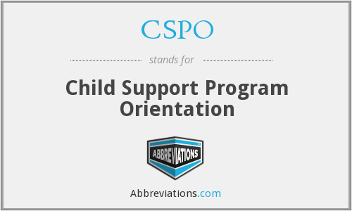 CSPO - Child Support Program Orientation