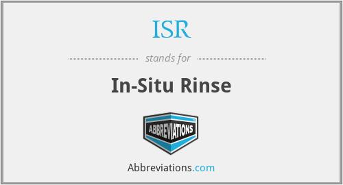 ISR - In-Situ Rinse