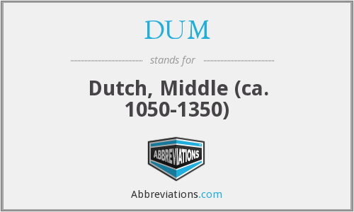 DUM - Dutch, Middle (ca. 1050-1350)
