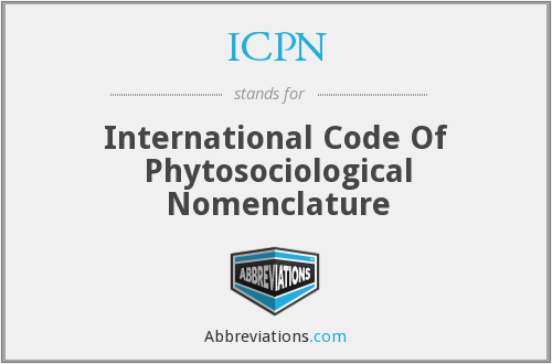ICPN - International Code Of Phytosociological Nomenclature