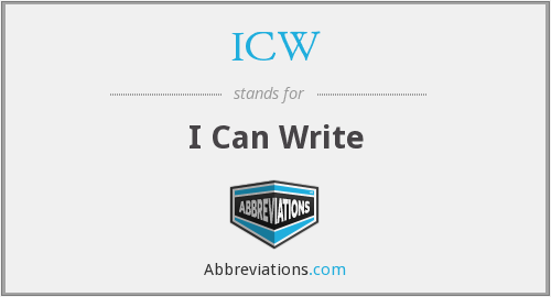 ICW - I Can Write