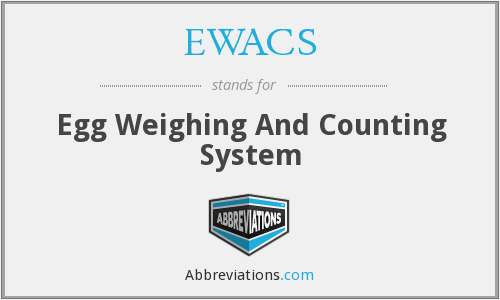 EWACS - Egg Weighing And Counting System