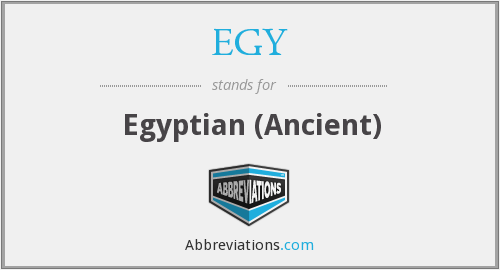What does EGY stand for?