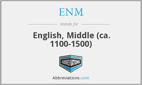 What does ENM stand for?