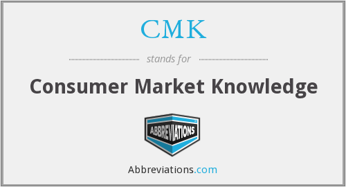 CMK - Consumer Market Knowledge