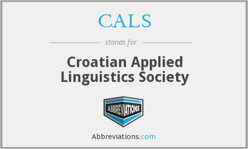 CALS - Croatian Applied Linguistics Society