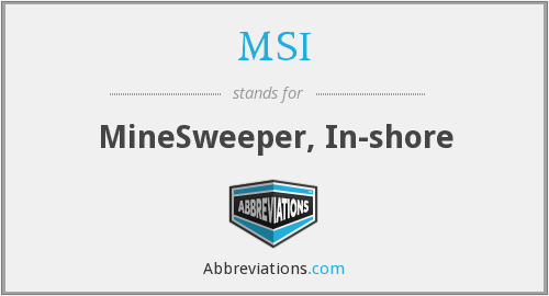 MSI - MineSweeper, In-shore