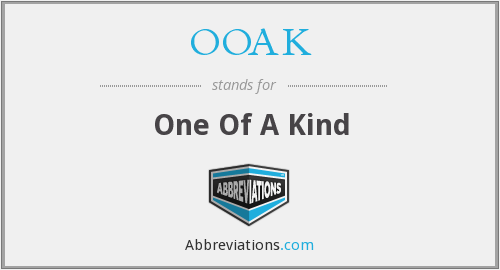 What does OOAK stand for?