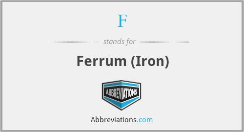 F - Ferrum (Iron)