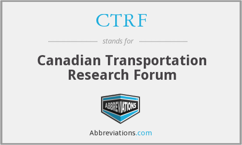 CTRF - Canadian Transportation Research Forum