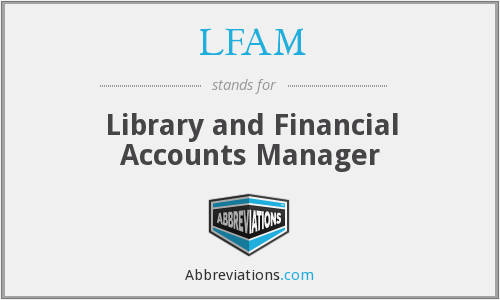LFAM - Library and Financial Accounts Manager