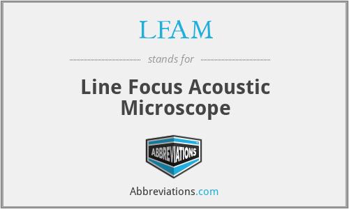 LFAM - Line Focus Acoustic Microscope