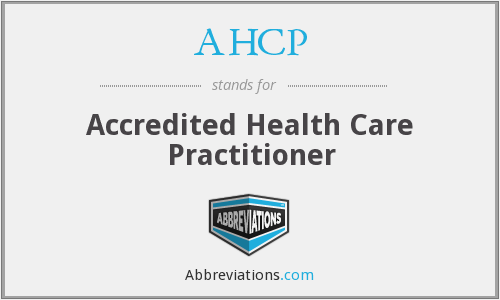 AHCP - Accredited Health Care Practitioner