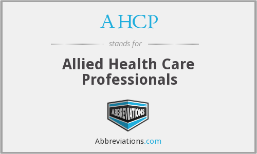 AHCP - Allied Health Care Professionals