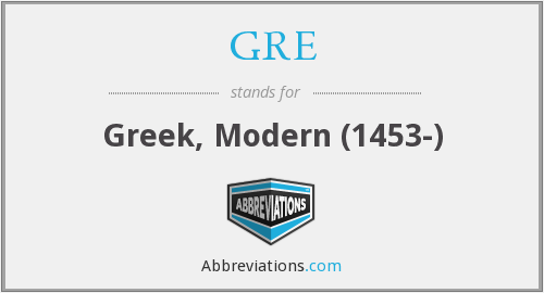 GRE - Greek, Modern (1453-)