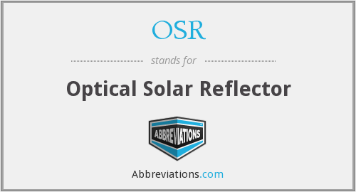 OSR - Optical Solar Reflector
