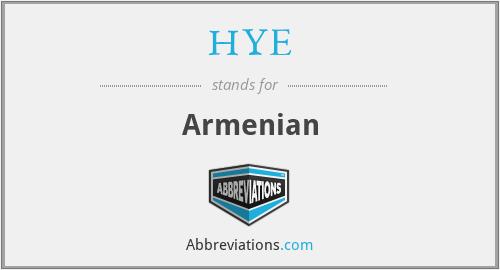 HYE - Armenian