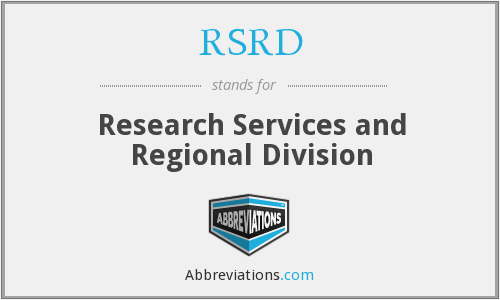 RSRD - Research Services and Regional Division
