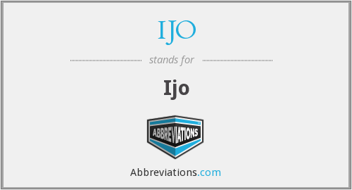 What does IJO stand for?