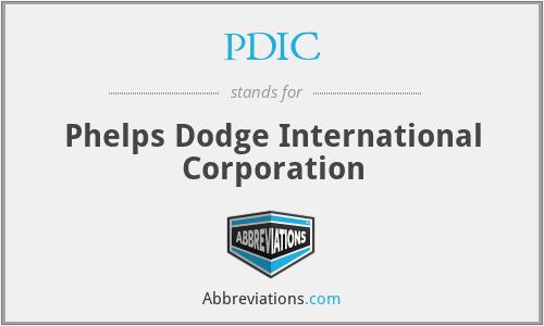 PDIC - Phelps Dodge International Corporation