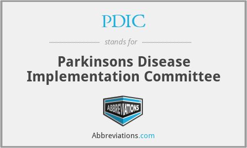 PDIC - Parkinsons Disease Implementation Committee