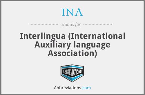 INA - Interlingua (International Auxiliary language Association)