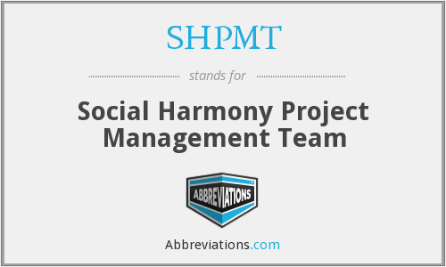 What does SHPMT stand for?