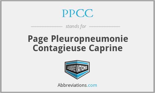 PPCC - Page Pleuropneumonie Contagieuse Caprine