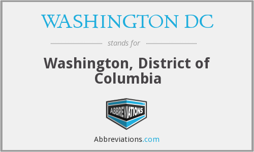 What does WASHINGTON DC stand for?