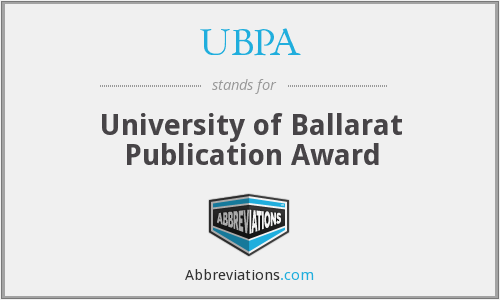UBPA - University of Ballarat Publication Award