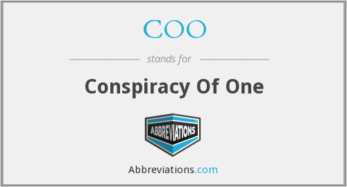 COO - Conspiracy Of One