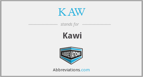 What does KAW stand for?
