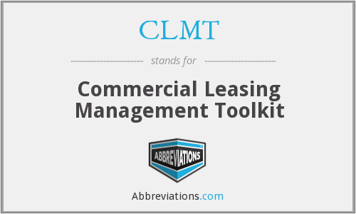 CLMT - Commercial Leasing Management Toolkit