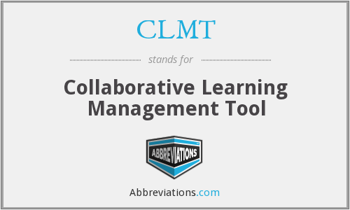 CLMT - Collaborative Learning Management Tool