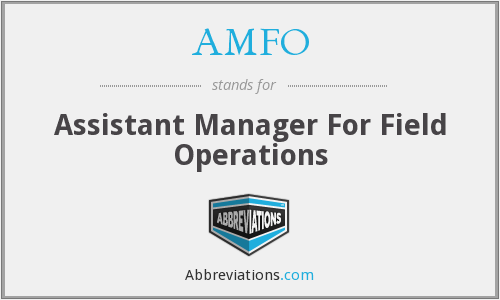 AMFO - Assistant Manager For Field Operations