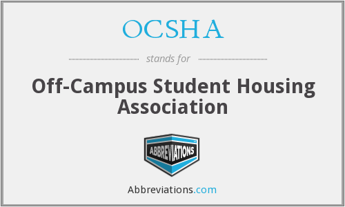 OCSHA - Off-Campus Student Housing Association