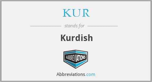 KUR - Kurdish