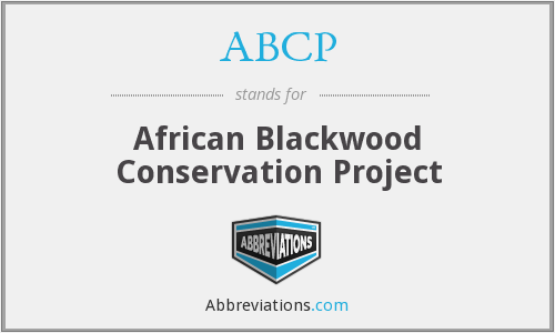 ABCP - African Blackwood Conservation Project
