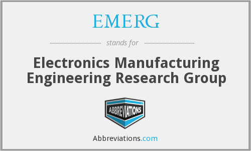 EMERG - Electronics Manufacturing Engineering Research Group