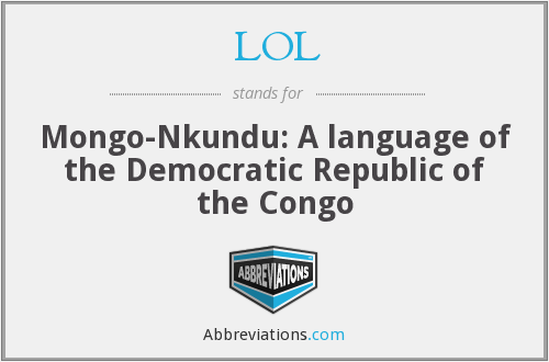 LOL - Mongo-Nkundu: A language of the Democratic Republic of the Congo