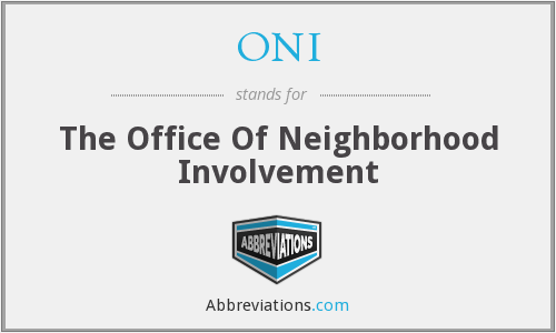 ONI - The Office Of Neighborhood Involvement