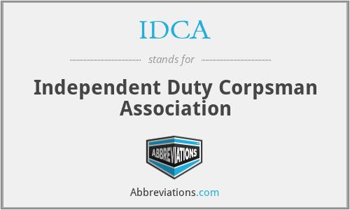 IDCA - Independent Duty Corpsman Association