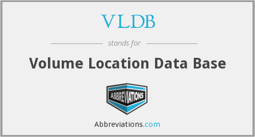 VLDB - Volume Location Data Base