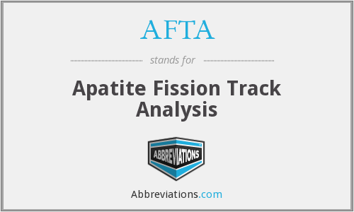 AFTA - Apatite Fission Track Analysis