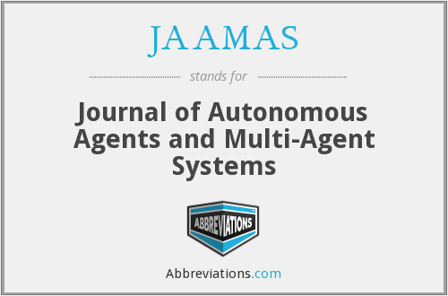 JAAMAS - Journal of Autonomous Agents and Multi-Agent Systems