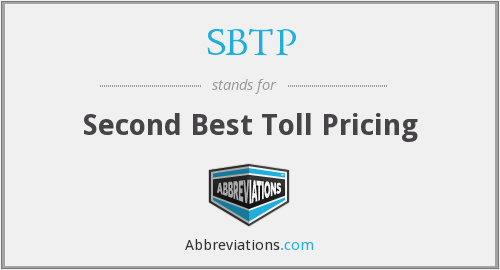 SBTP - Second Best Toll Pricing