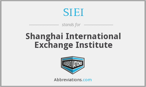 SIEI - Shanghai International Exchange Institute