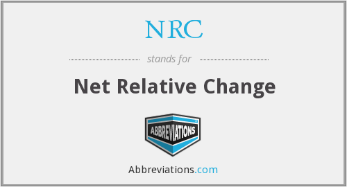 NRC - Net Relative Change