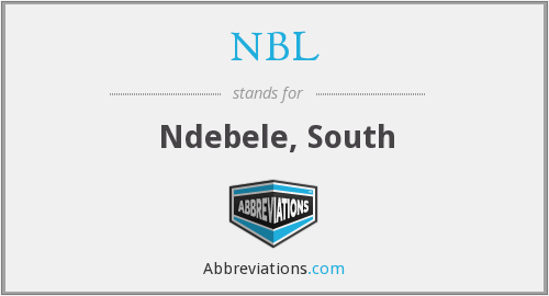 NBL - Ndebele, South