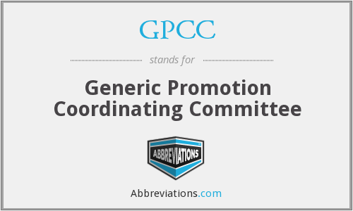 GPCC - Generic Promotion Coordinating Committee